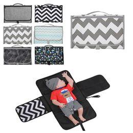 Baby insulation pad Outdoor portable diaper pad multifunctional waterproof folding diaper bag EVA stroller storage bags on Sale