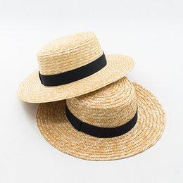 $enCountryForm.capitalKeyWord NZ - wholesale Boater Hats for Women Summer Sun Straw Hat with Wide Brim Beach Hats Girl 2017