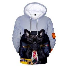 3d Cute Cartoon French Bulldog Fashion Men Women Zipper Hoodies Jacket Casual Long Sleeve Zip Up 3d Hooded Sweatshirt Tracksuits Men's Clothing