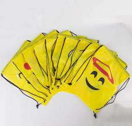 $enCountryForm.capitalKeyWord Australia - 34*43cm 500pcs Smiley Cartoon Bag Polyester Cloth Bundle Pocket Sports Hiking Food Storage Backpack Kids Book Bag Company Giving Gift Bag