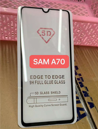 Iphone Color Glass Screens Australia - 9D Glass Film For iPhone X Tempered Glass Screen Protector XS Max XR Full Cover Black Color Full Glue For Samsung Galaxy M20 M10 A30 A50 M30