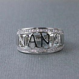 $enCountryForm.capitalKeyWord Australia - Exquisite Nana Ring 925 Sterling Silver Cubic Zirconia Diamond Jewelry Grandmother Christmas Gift Birthday Present 2 Color