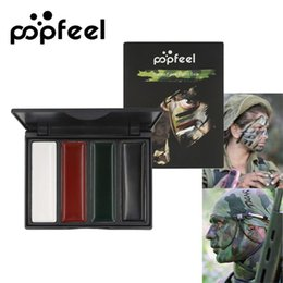 face body painting colors NZ - Body Paint Pigment Popfeel 1pc 4 Colors Body Face Camo Paint Making up Painting Pigment Multicolor Series Body for Army Fan Military CS Play
