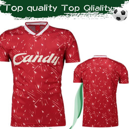 Size pool online shopping - 1989 Retro Version Top Quality Pool Candy Home Soccer jersey Collection Red Sports Clothing Customized Football Uniforms Sizes S XL