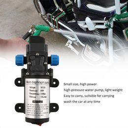 $enCountryForm.capitalKeyWord NZ - Cimiva 12V 80W Electric Water Pump Spray Gun Wash Kit Trigger Sprayer For Garden Watering Car Washing Machine Cigarette Lighter
