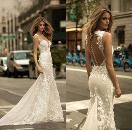 Zuhair Murad Lace Dress White Australia - 2019 White Country Style Mermaid Wedding Dresses Trumpet Lace Applique Zuhair Murad Bridal Gowns Sweep Train Long Sleeve Wedding Dress