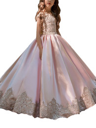 $enCountryForm.capitalKeyWord NZ - Dresses with a Floral Pattern for Girls Tulle Princess Dresses Elegant Evening Dress Children's for the First Communion Vestido Comunion