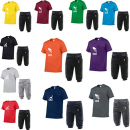 $enCountryForm.capitalKeyWord NZ - summer mens tracksuit ad letters round neck short sleeve pullover and casual jogger pants suits brand baseball shorts two piece outfitC62604