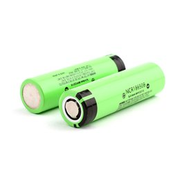 Chinese  100% High Quality Panasonic 3400mAh 18650 Battery NCR18650B Li-ion Lithium Rechargeable Batteries Battery For E-Cigarette Flash Light Vape manufacturers