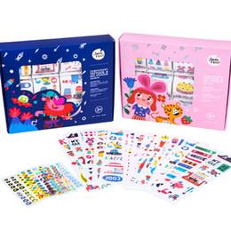 Christmas Gift Nails Australia - Joan Miro Kids Temporary Tattoos and Nail Stickers 12 Sheets;Christmas Gift (Blue)