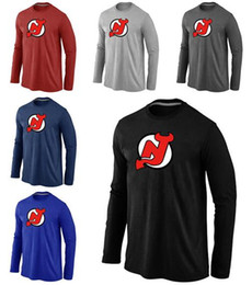devil t shirt Australia - New Style New Jersey Men's Devils Tall Legend Performance Long Sleeve Red And Black Blue T-Shirt
