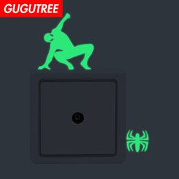 $enCountryForm.capitalKeyWord Australia - Decorate Home Diy spider animal cartoon art glow wall sticker decoration Decals mural painting Removable Decor Wallpaper G-535