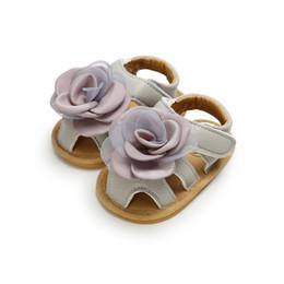 $enCountryForm.capitalKeyWord NZ - New Baby Flower sandals 2019 summer Fashion Non-slip Soft bottom Kids Slippers infant First Walkers newborn Walkers shoes