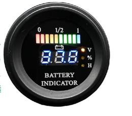 $enCountryForm.capitalKeyWord Australia - Round Housing Arc Line Led Digital Battery Gauge Discharge Indicator Hour Meter State Of Charge Forklift Ev 24v 36v 48v 60v To 200v