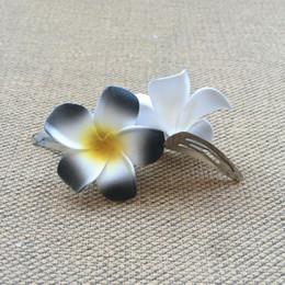 Hawaiian Hair Australia - Sale Hawaiian flower jewelry Frangipani Polymer hair pin frangipani artificial flower Girls wedding bride BB CLIP 700pcs