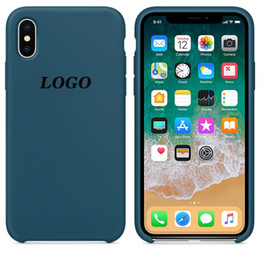 original case apple for iphone NZ - Original Have LOGO Silicone Case For iPhone 6 7 8 Plus X XS XR XSMAX Phone Silicon Cover For iphone X 6S 6 Plus For Apple Retail Box