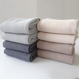 $enCountryForm.capitalKeyWord NZ - 42X63CM 4 Pieces Set Cotton Table Napkins Home Kitchen Waffle Pattern Tea Towel Absorbent Dish Cleaning Towels