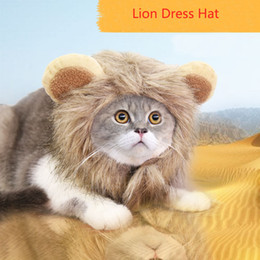 Lion Turned Hat Pet Hats Funny Cute Pets Costume Cosplay Cat Velcro Adjustable  Pet Supplies Teddy Autumn and Winter Warm Dog Headgear Cap Tu 328edec8e5bb