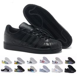 Hologram Shoes NZ - 2018 Superstar Original White Hologram Iridescent Junior Gold Superstars Sneakers Originals Super Star Women Men Sport Shoes 36-45