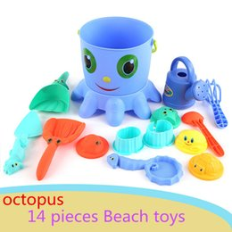 Good Toys Australia - 14pcs set Educational Octopus beach toys baby to play water sand-excavating toys,Play with good friends,baby kids best gift