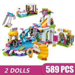 Blocks For Girls Australia - 589PCS Small Building Blocks Toys Compatible with Legoe Heartlake City Swimming Pool Gift for girls boys children DIY