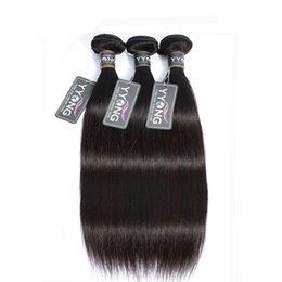 Peruvian mongolian hair grade 7a online shopping - Grade A Brazilian Straight Hair Virgin Human Hair Weaves Bundles Natural Color Double Wefts Unprocessed Hair Extensions pc g