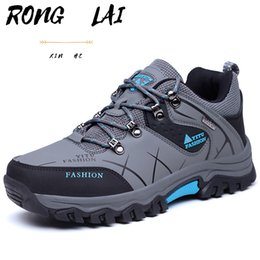 mens leather hiking shoes NZ - Men's four seasons warm snow boots ultra high quality waterproof leather sports shoes outdoor hiking boots mens work shoes 39-47