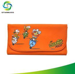 Color Leather Bags Australia - PU leather material, various color patterns, cartoon pattern, moisturizing bag, leather cigarette bag