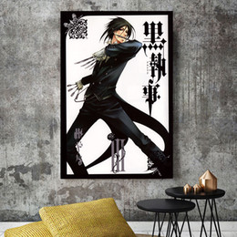 16x24 painting Australia - Black Butler Anime Canvas Modern Comic Painting Oil Print Poster Wall Art HD Picture For Living Room Home Decor
