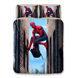 spiderman beds Australia - 2019 3D Bedding Sets Young Spiderman Printing Pattern Duvet Covers New Style Cartoon Pillowcase Polyester King Size Bed Sheets