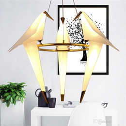 Ceiling Lights & Fans Nordic Creative Resin Bird Pendant Lights Glass Lampshade For Living Room Study Cafe Home Decor Bird Lamp Hanging Light Fixtures