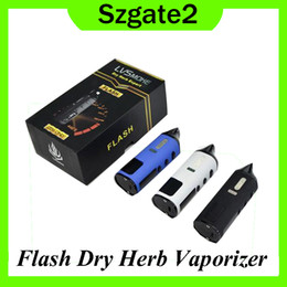 metal flashing colors NZ - Flash Dry Herb Wax Vape Pencil Kits E Cigarette Kit With 2 Usages 1600mAh Built-in Battery Temperature Control Vaporizer 3 Colors 0268045