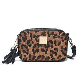 e1edff70bae 2019 Fashion Fashion Famous Designer Small Women Leopard Print Handbags  Vintage Leather Shoulder Bag Tassel Clutch Bags Messenger Bag 2018