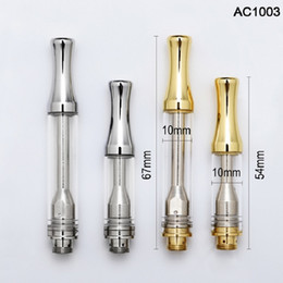 Zero glass online shopping - AC1003 Ceramic Coil Cartridge ml ml Silver Gold A8 Disposable Thick Oil Carts Leakproof Zero Leakage Glass Tank
