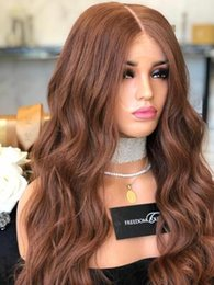 $enCountryForm.capitalKeyWord NZ - 2019 New Hairstyle Womens Lace Front Wig Ombre brown Long Big Wavy Full Wigs Party Hair Cosplay Wigs
