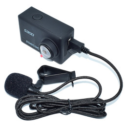 soocoo camera UK - External Microphone For SOOCOO S200 Action Camera Voice Reception Recording Portable Camera Microphone &