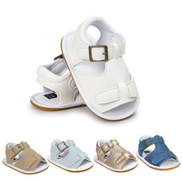 Boy Sandals Canada - Summer Baby Boys Sandals Fashion Children Kids Baby Girls Solid Soft Sole Anti-slip Casual Shoes Boys Sandals Shoes M8Y12