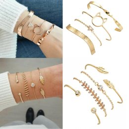$enCountryForm.capitalKeyWord NZ - 16 styles Woman Bracelets Bohemian Jewelry Multi-layer Link Chain Charm Bracelet For Women Various Jewelry Suits Popular Accessories