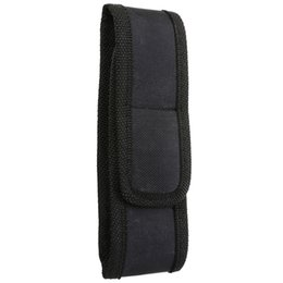 $enCountryForm.capitalKeyWord Australia - Portable 17x4.5cm Black Nylon Flashlight Pouch Holder Belt Pouch Case Bag For LED Flashlight Torch For Outdoor Hiking Camping #358326