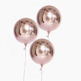 20 unids 10 pulgadas metálico dimensional rosa oro plata hoja 4d globos fiesta de cumpleaños de la boda decoración Helio inflable Globos suministro Q190429
