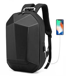 backpacks speakers 2019 - NEW PC Hard Shell Motorcycle Protection BACKPACK USB Charging Bluetooth Speaker Music Bags Geek Waterproof