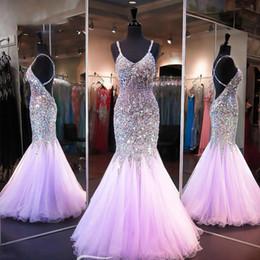 $enCountryForm.capitalKeyWord Australia - Long Prom Dress 2019 Sexy Spaghetti Strap Handmade Beaded Crystal Evening Gown Mermaid Formal Dress Backless Vestidos de Fiesta