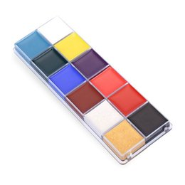 Discount best beauty tools - Best 1 Set 12 Colors Flash Tattoo Face Body Paint Oil Painting Art Halloween Party Fancy Beauty Makeup Tools QQ99