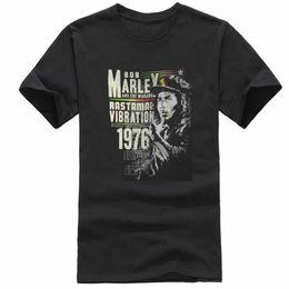 2b73dedc1 Bob Marley Rastaman Vibration 76 Mens Black T Shirt Nuevo Reggae Music  Envío gratis Moda de verano