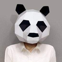 $enCountryForm.capitalKeyWord NZ - Kawaii Panda 3D Puzzle Paper Stereo Animal Mask Cartoon DIY Dance Party Christmas Gifts Toys Headgear Model Props Halloween Cosply Costumes
