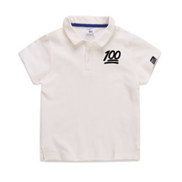 white cotton t shirts children UK - GODODOMAOYI 2019 Fashion Kids Polo t Shirt Children Lapel Short sleeves shirt Boys Tops Clothing Brands Solid Color Tees 100 sub-patterns