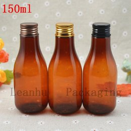Packing For Cosmetics Australia - 150ml Brown Lotion Cream Containers Bottle Cosmetic Container Refillable Bottles For Cosmetics Pack