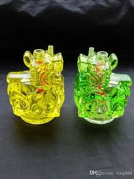 cartoon water bong Australia - New cartoon hookah Wholesale Glass bongs Oil Burner Glass Water Pipes Oil Rigs Smoking Free