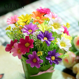 $enCountryForm.capitalKeyWord Australia - ilk flowers artificial HI-Q NEW 1 Set Mini Cute Iron Vase + Silk Flowers Artificial Flower Set Home Decoration Mini Bonsai Flores Artific...