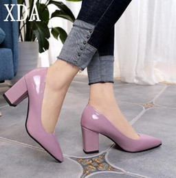 $enCountryForm.capitalKeyWord NZ - XDA 2019 fashion Women's High Heels Sexy Bride Party mid Heel Pointed toe Shallow mouth High Heel Shoes Women shoes size 35-43